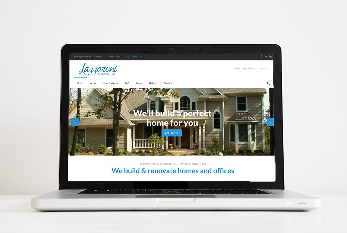 Lazzaroni Builders Inc. Logo & Website